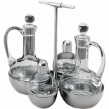 Alessi condiment set - oil, vinegar, salt, pepper
