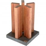 Kai magnetic knife-block stonehenge red wood