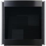 Letterbox Glasnost glass black-stripes