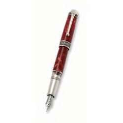 Aurora fountain pen Aurora 85 year - red marbled